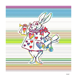 Rabbit Playing Bugle Multi-Color