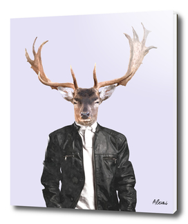 Fashionable Deer Illustration