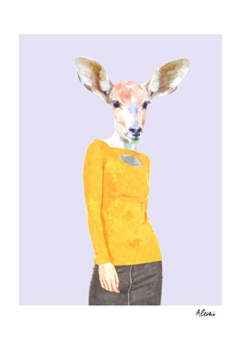 Fashionable Antelope Illustration