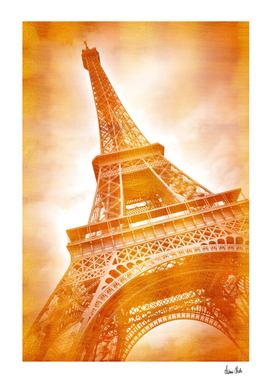 EIFFEL TOWER Classical red golden style