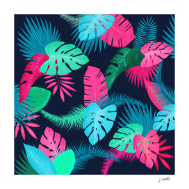 Tropical flowers dark