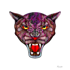 Evil puma portrait