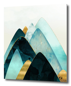 Gold and Blue Hills