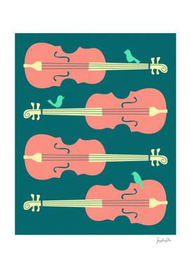 Birds on Cello Strings (2)