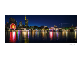 Frankfurt am Main - the business capital of Germany at night