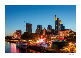 Frankfurt am Main - the capital of Germany at night.