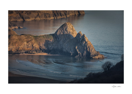 Evening at Three Cliffs Bay Gower