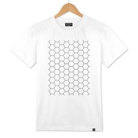 Geometric Honeycomb Pattern - Black #378