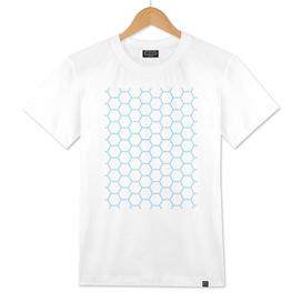 Geometric Honeycomb Pattern - Blue #370