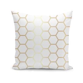 Geometric Honeycomb Pattern - Gold #170
