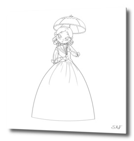 The Princess with a small umbrella