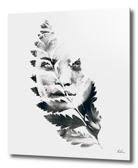 Portrait of woman(leaves)