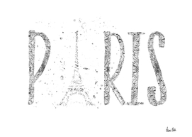 PARIS Typography | silver & white
