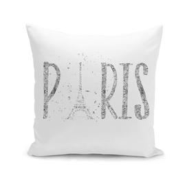 PARIS Typography | silver & white