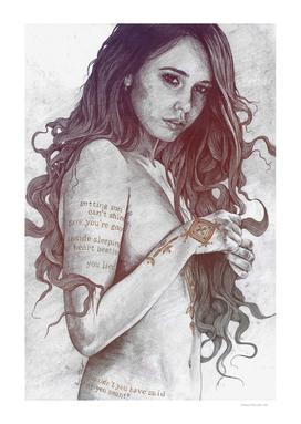 You Lied: Rainbow (nude girl with mehndi tattoos)
