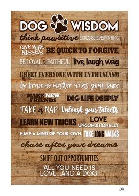Dog Wisdom Wood