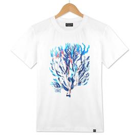 Watercolor Blue Coral