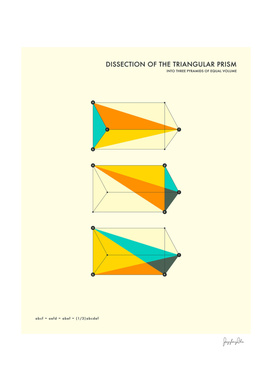 Dissection of the Prism into 3 Pyramids of Equal Volume