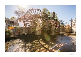 Old wooden water wheel