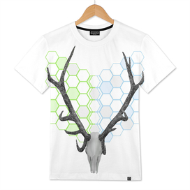 Stag Head Geometric Pattern