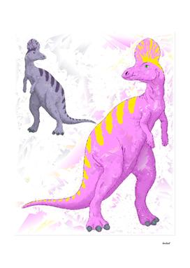 Abstract Lambeosaurus Dinosaurs