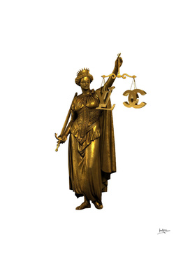 CHANEL OR LOUIS VUITON / LADY OF JUSTICE