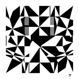 Black and white pattern geo art deco