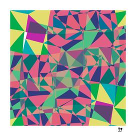 Geometric illusion colourful funny pattern