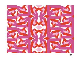Geometric funny pop art pink