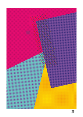 Geometric Funny popcolor dots pattern