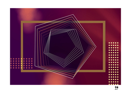 Purple geometric abstract Wine gold luxe