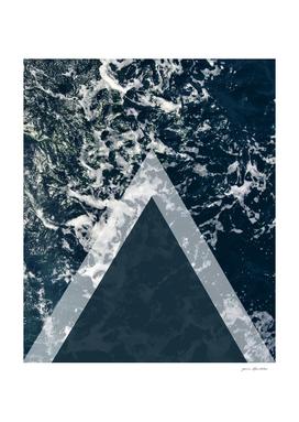 blue sea arrows collage