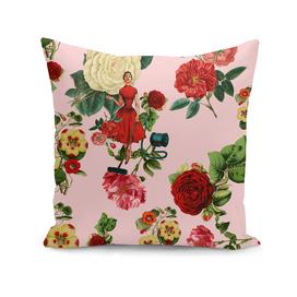 Keep it clean floral collage pink