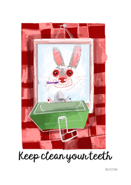 Rabbit diaries: Time to Clean Your Teeth