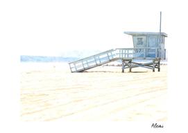 Lifeguard Tower Illustration