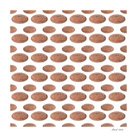 Rugby Ball Grungy Pattern