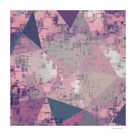 geometric triangle polygon pattern abstract in pink