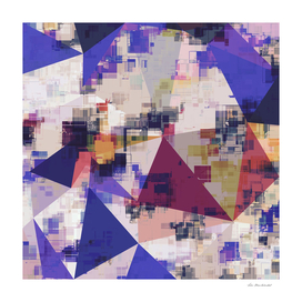 geometric triangle polygon pattern abstract in blue brown