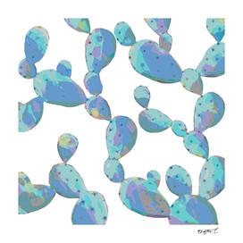 Rainbow Pastel Cacti Pattern