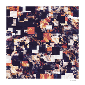 geometric square pixel pattern abstract in brown black