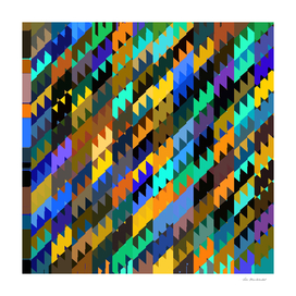 geometric triangle pattern abstract in brown blue green