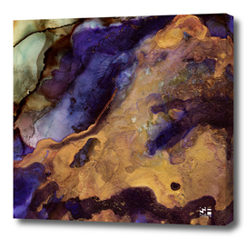 Purple and Gold Abstract