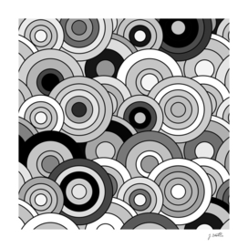 African Style No20, Black and White