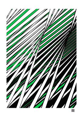 Green Black White