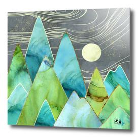 Moonlit Mountains