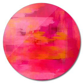 """""""Abstract brushstrokes in pastel pinks and oranges"""""""