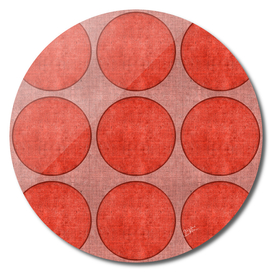 """Pink Circles on Retro Burlap"""