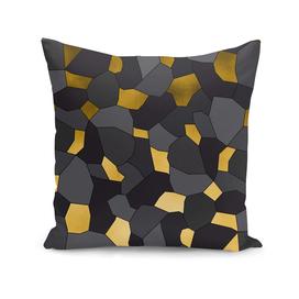 Gold grey and black mosaic