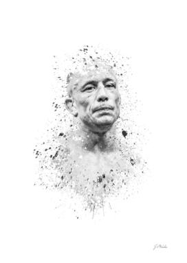 "Georges ""Rush"" St. Pierre splatter painting"