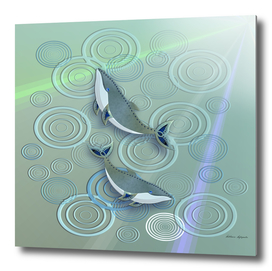 irridescent whale abstract